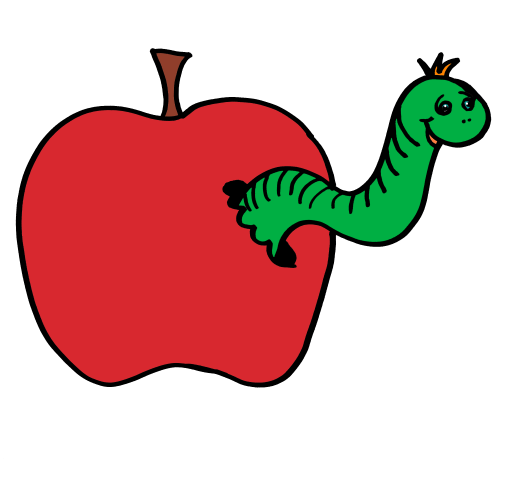 Apple clipart small apple (Small) more Clip and worm