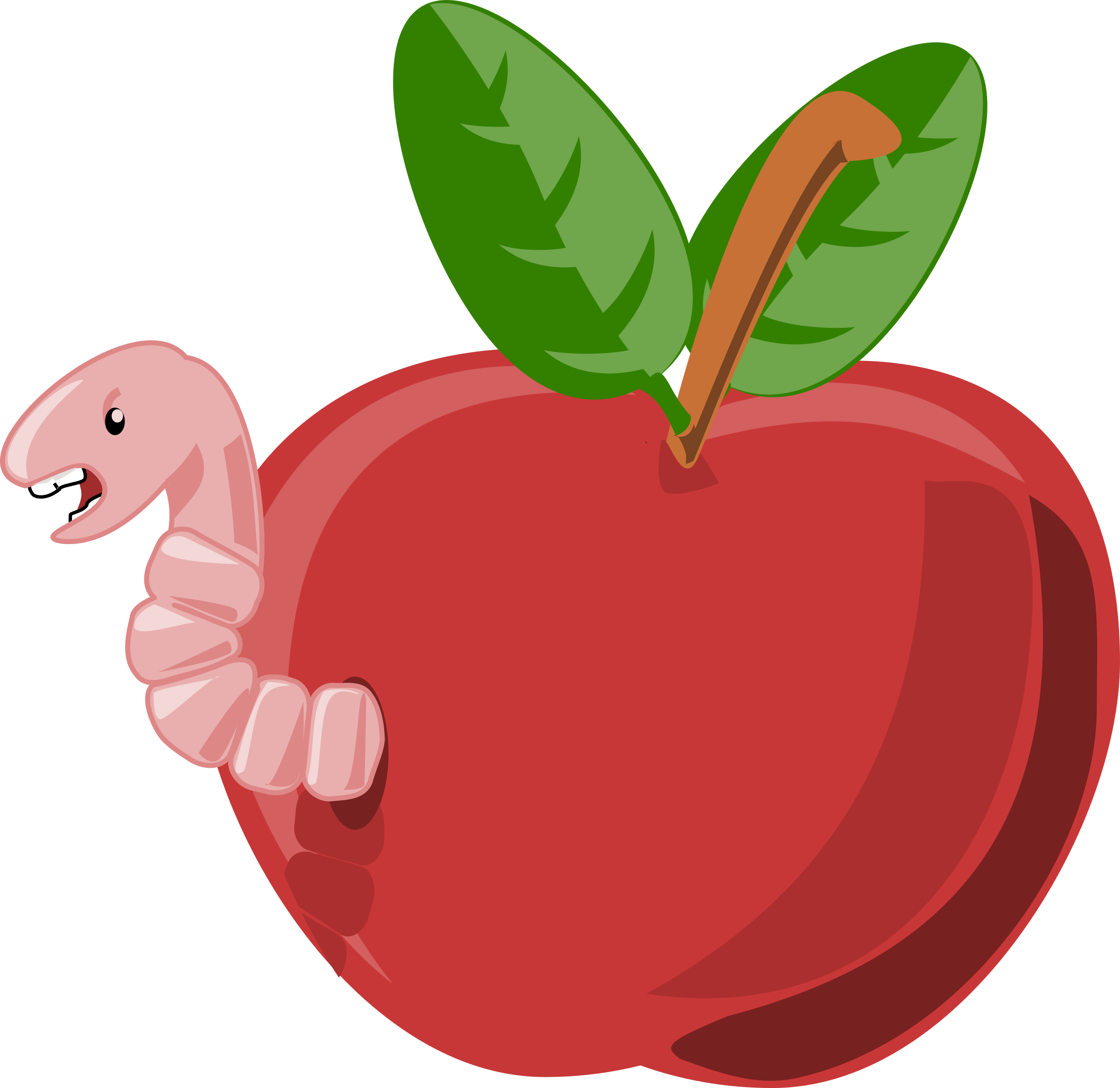 Apple Inc. clipart cartoon Apple cartoon worm with Clipart