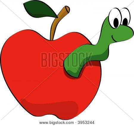 Worm clipart apple worm Art: Clipart Apple Apple Clipart