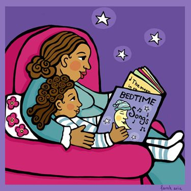 Worm clipart bedtime reading Illustration multicultural Bedtime from Bedtime