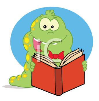 Worm clipart bedtime reading Book a Free Worm images