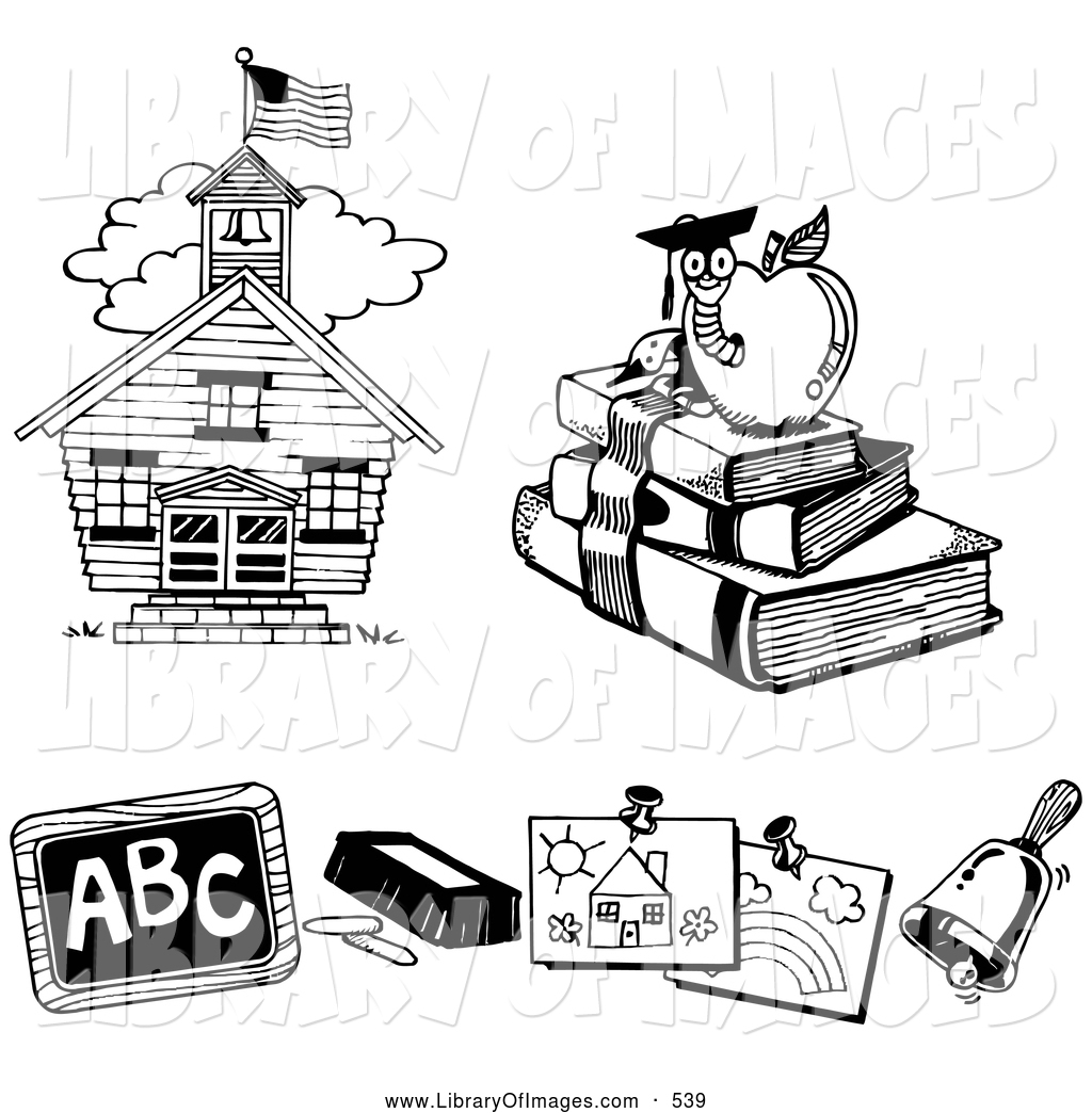 Book clipart chalkboard House Worm Clip Three a