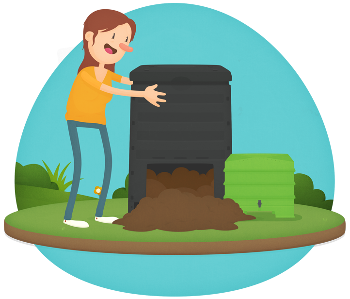 Worm clipart compost heap Wormfarming Compost your win area
