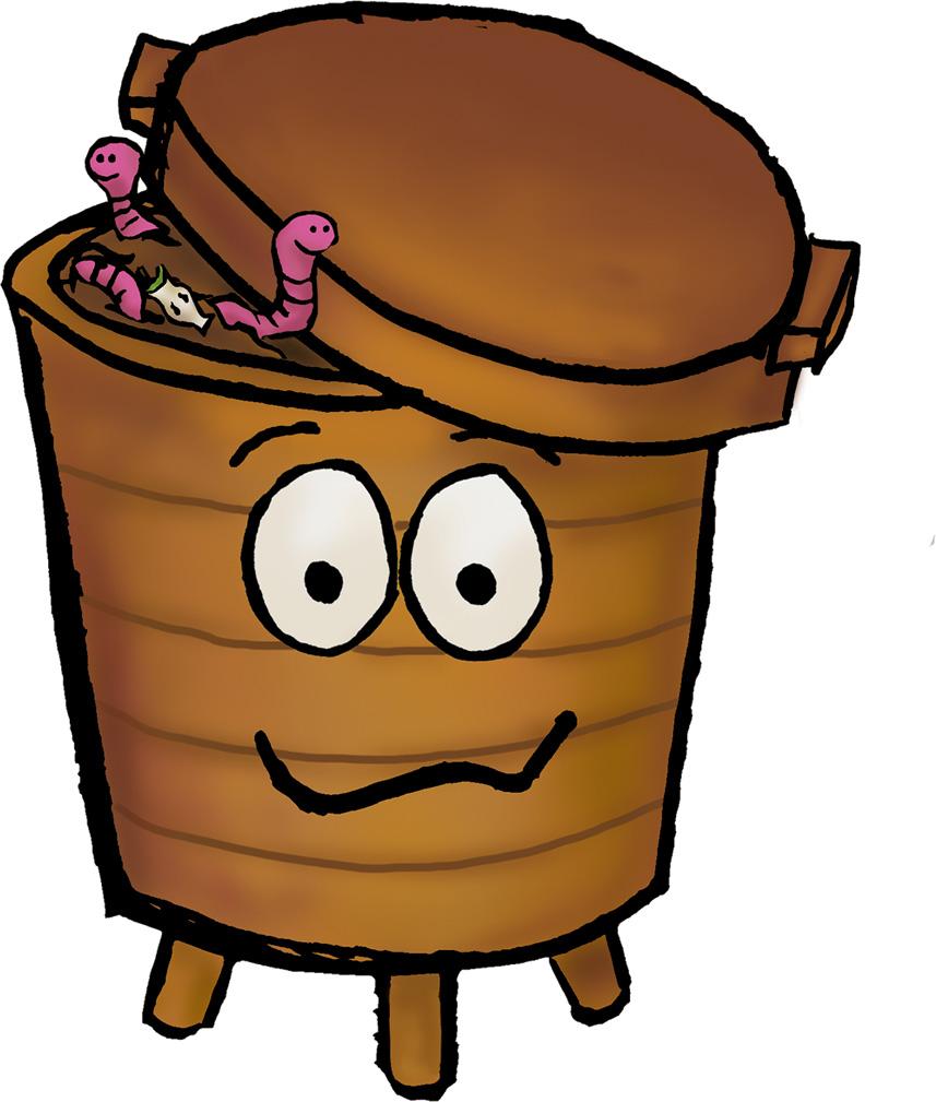 Worm clipart compost heap Bin Recycle cartoon magiel Now