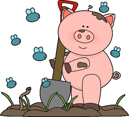 Pig clipart muddy pig With Pig Clip Muddy Art