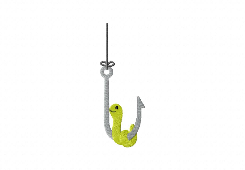 Worm clipart fish hook Fishing Hook 7354 Clipart Clipart