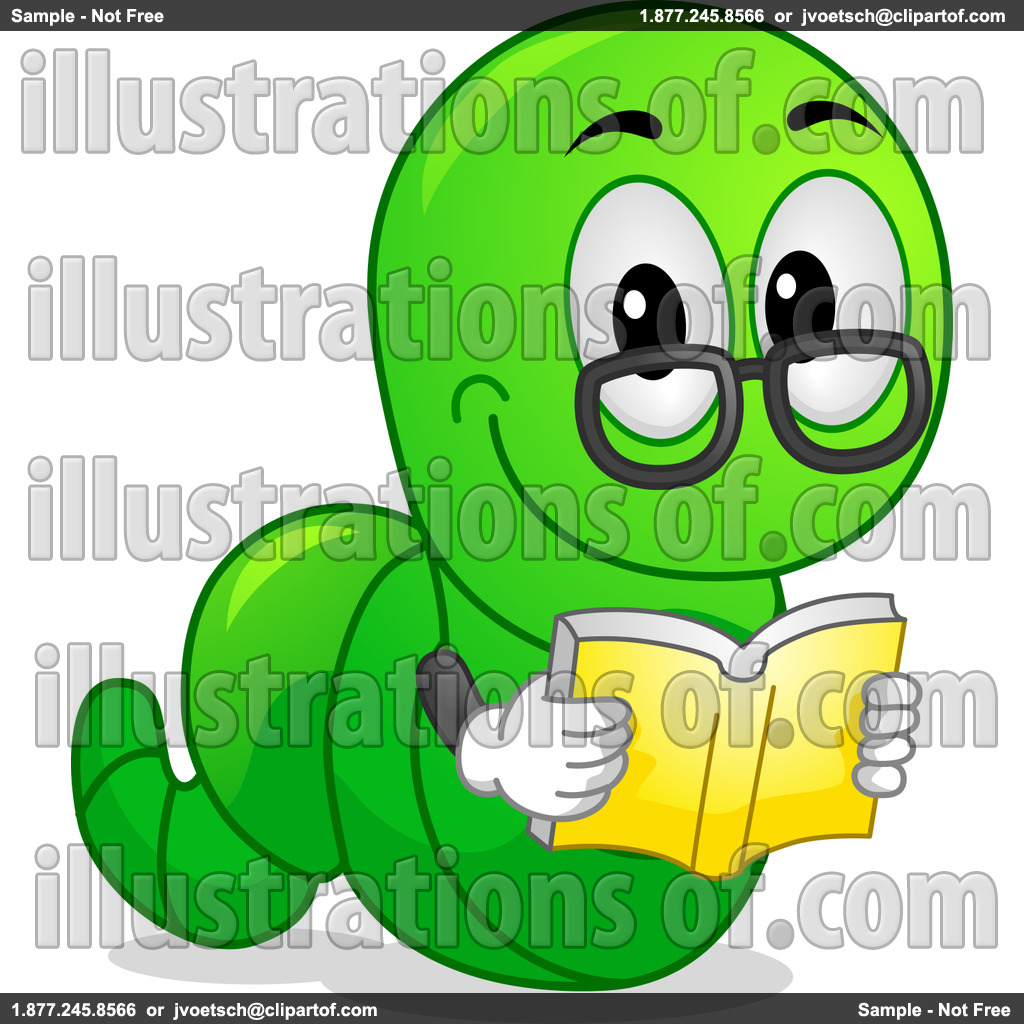 Worm clipart green #9