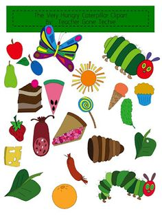 Worm clipart hungry caterpillar #13