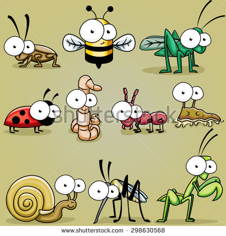 Bugs clipart worm Insect bee roach bugs Eyed