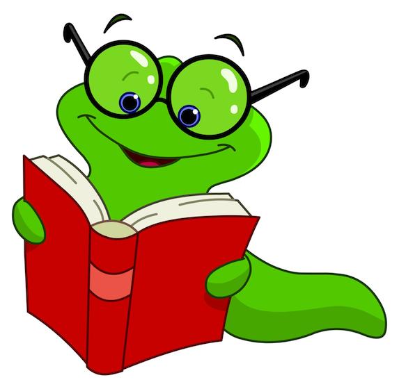 Worm clipart kid book #8
