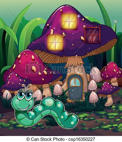 Worm clipart mashroom Royalty mushroom The House Worm