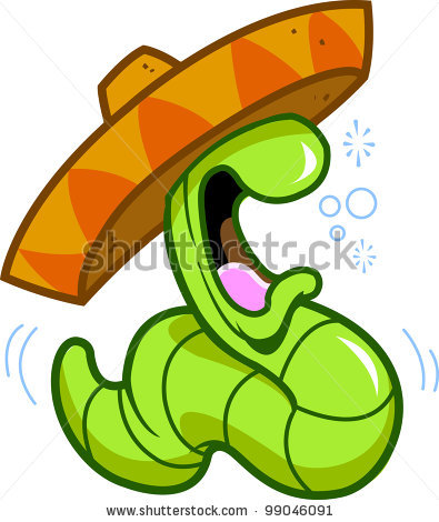 Worm clipart mexican drinking Wearing celebrating drinking partying worm