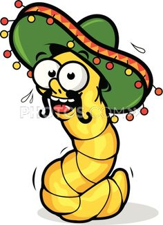 Worm clipart mexican drinking De Vector Stock Mayo