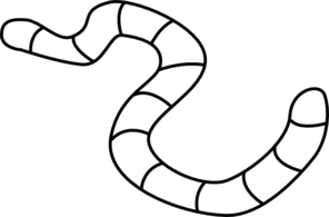 Worm clipart outline #1