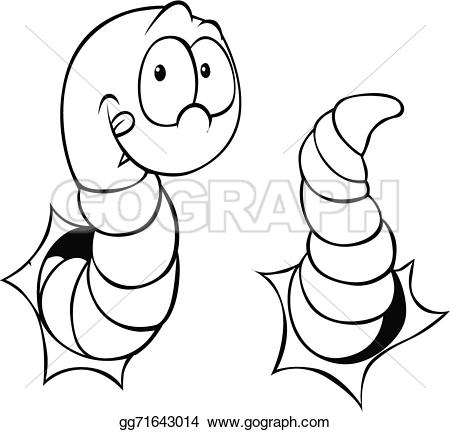 Worm clipart outline #11