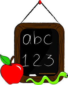 Bobook clipart chalkboard Apple Clip Images Free Clipart