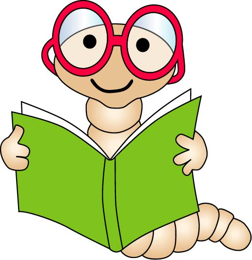 Covered clipart comprehension Me Reading worm (glasses all)