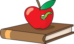 Geography clipart apple book Clipart book top a with