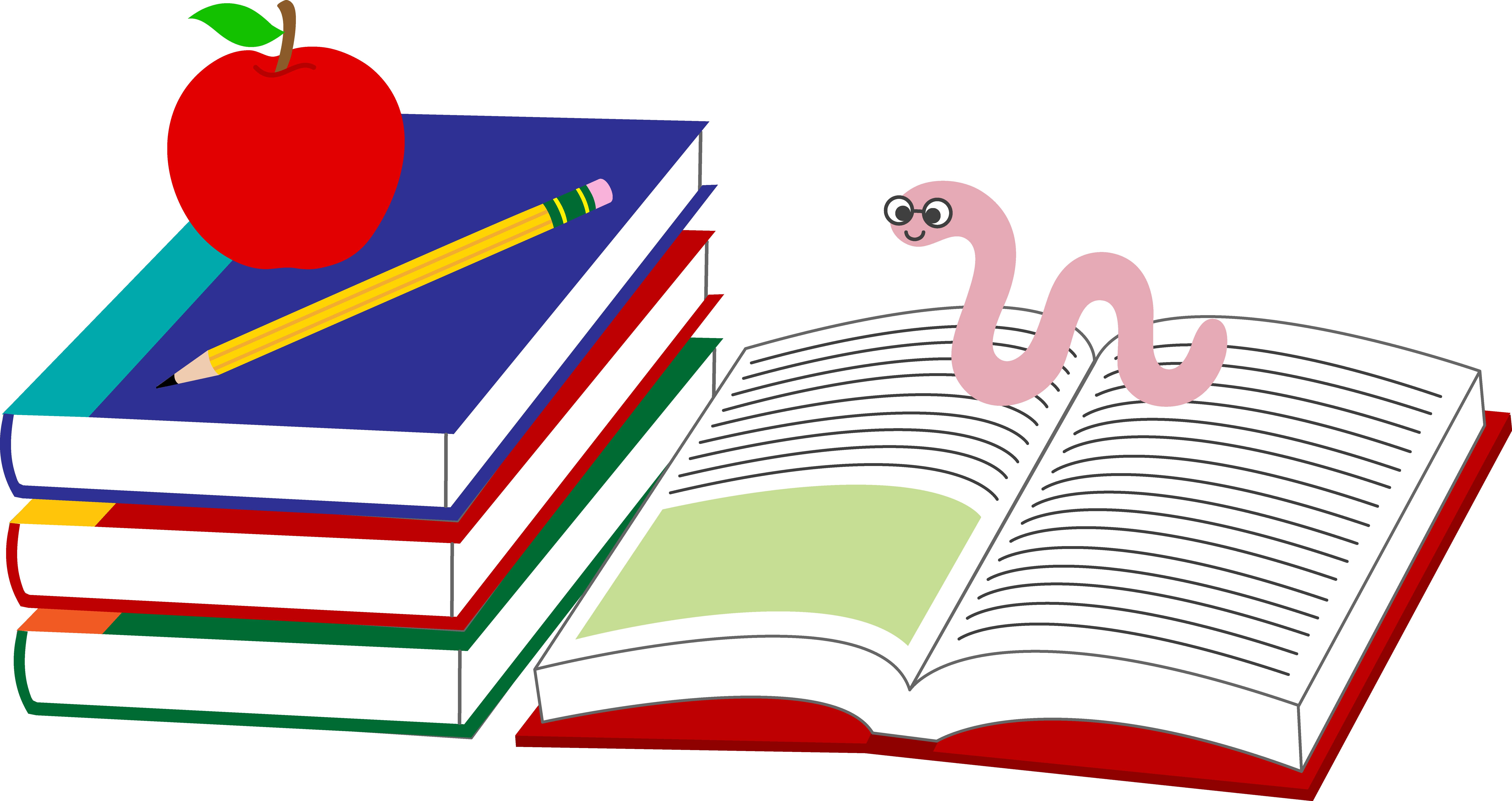 Covered clipart school book Books School Art Worm School