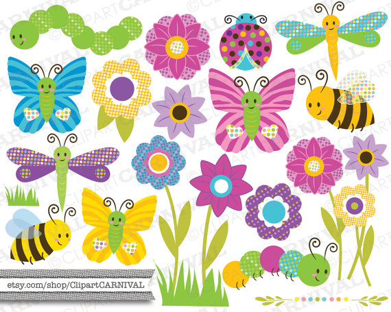 Caterpillar clipart flower Clip clip caterpillar Instant bugs