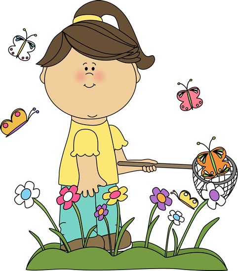 Artistic clipart kid artist Caricaturas images butterflies Pinterest Girl