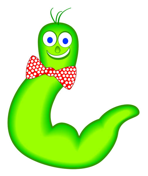 Worm clipart straight #9