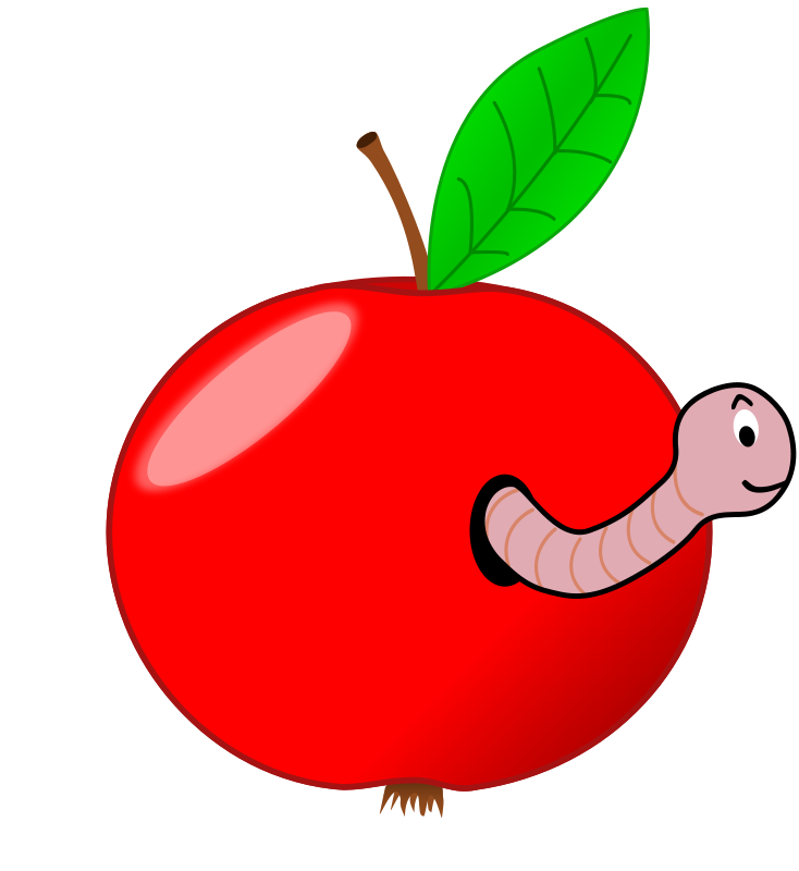 Worm clipart straight #14