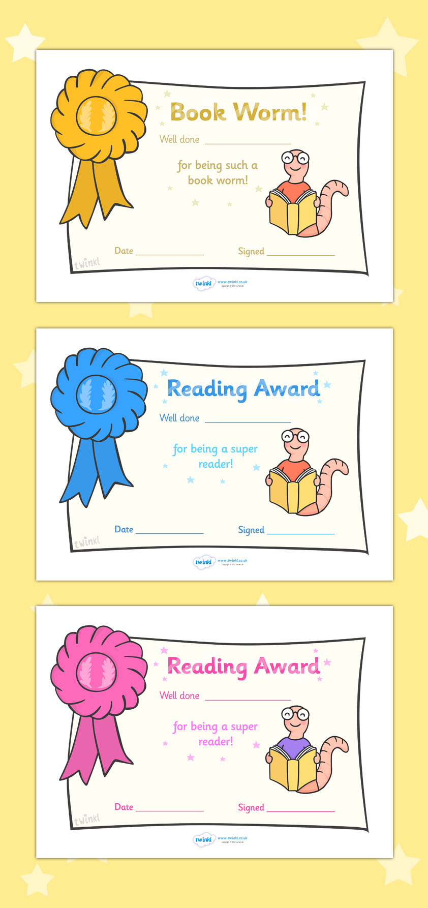 Worm clipart super reader Resources >> Award resources Editable