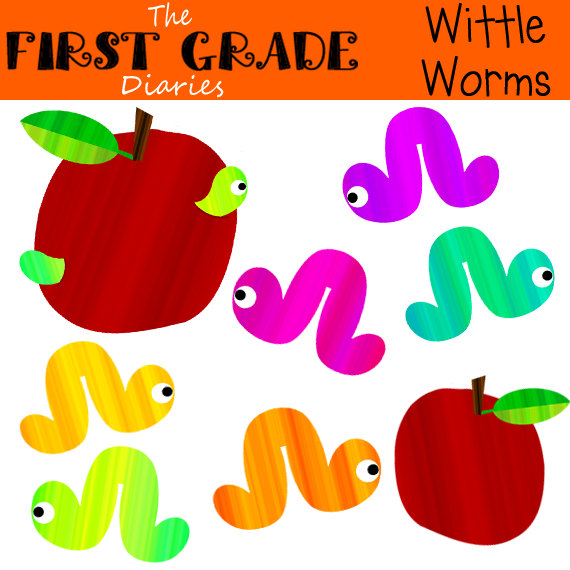 Worm clipart wiggly #6