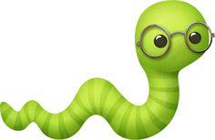 Worm clipart wriggly Green Worm Pinterest Mauve BOOKWORM