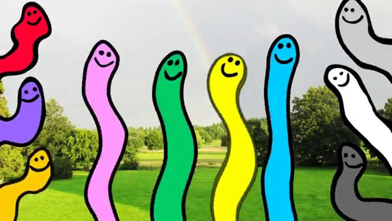 Worm clipart wriggly Wiggly Worms YouTube Colors Learn
