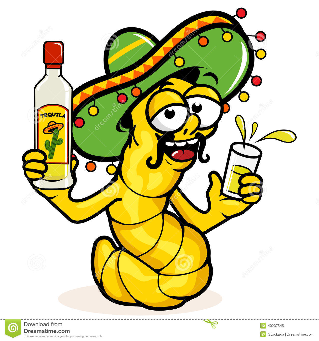Worm clipart yellow #7