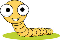 Worm clipart yellow #2