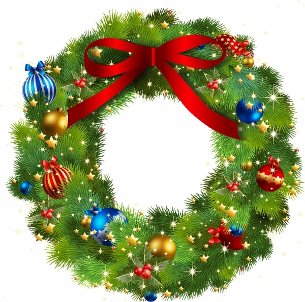 Holydays clipart christmas wreath Christmas free vector download Christmas