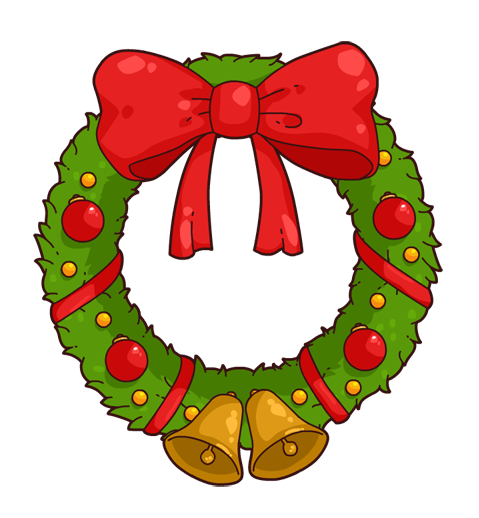 Wreath clipart Christmas Free Christmas clipart 116KB