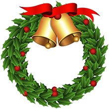 Holley clipart christmas wreath Clipart bells Free Clipart Christmas