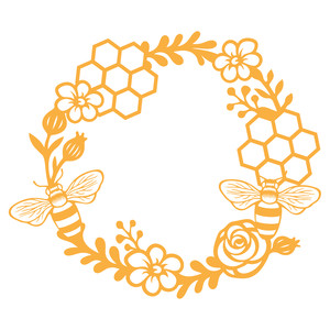 Wreath clipart bee The love I'm design this