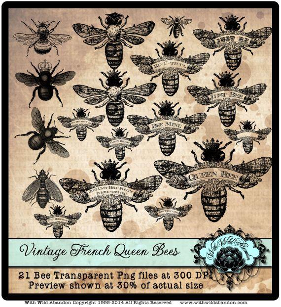 Wreath clipart bee  Crown bee Instant Queen
