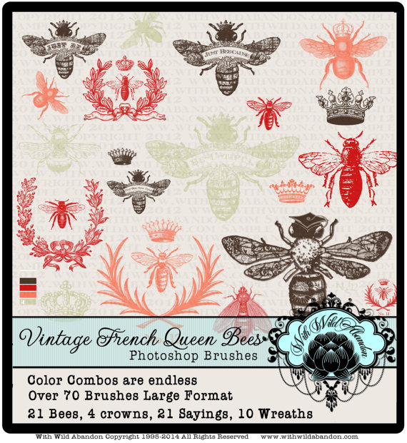Wreath clipart bee  Wreath Brushes Download Brushes