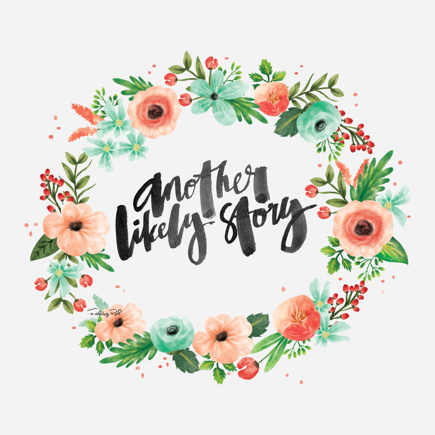 Wreath clipart calligraphy Song story Song Calligraphy &