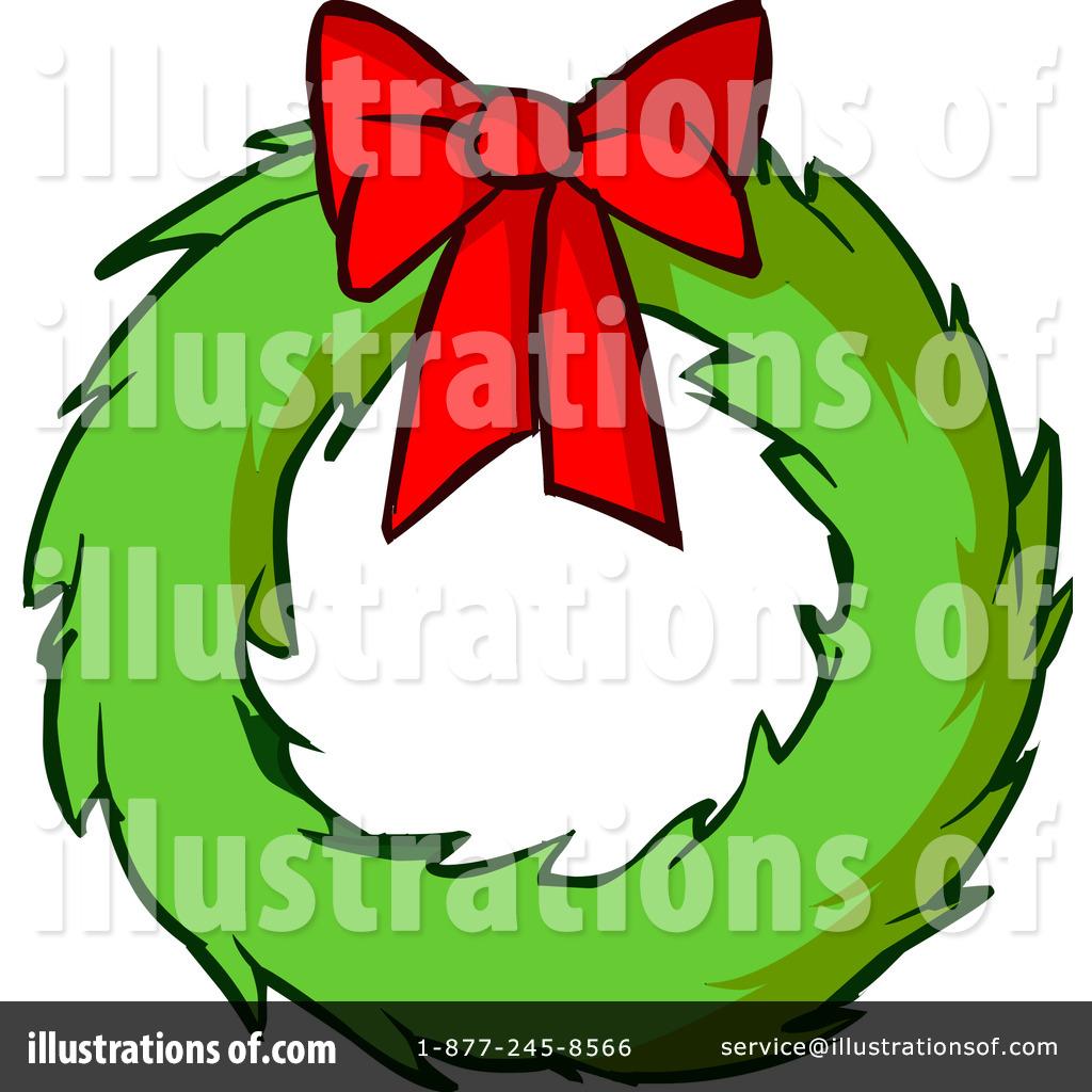 Wreath clipart cartoon christmas Illustration by Christmas Wreath Christmas