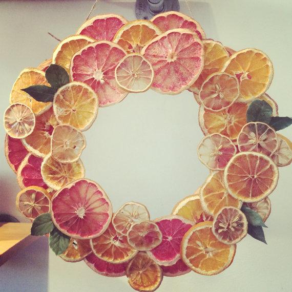 Wreath clipart citrus Wreath Wreath Slices with Fruit