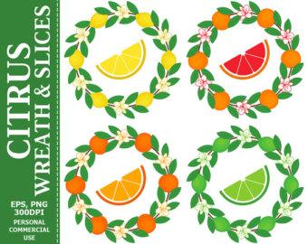 Wreath clipart citrus Wreath Citrus Leaves Wreath OFF