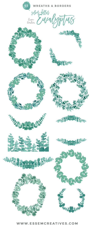 Wreath clipart classy Garden on olive invitation ideas