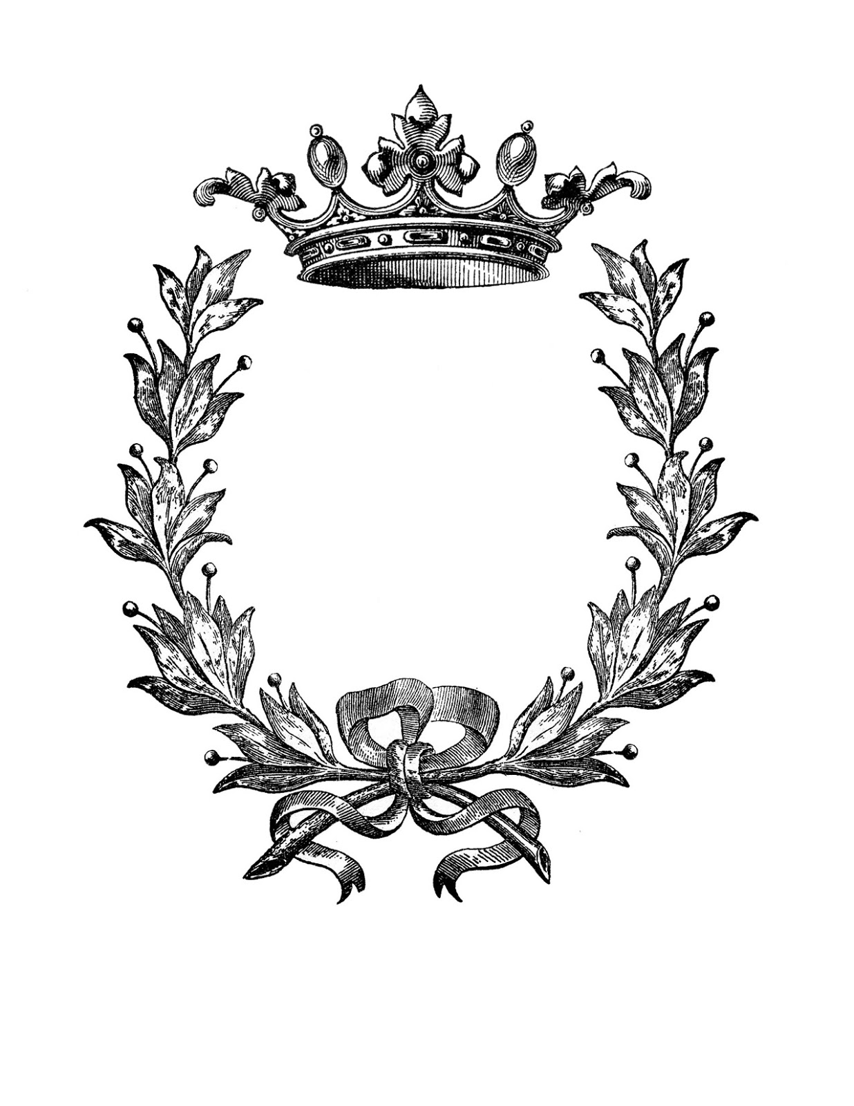 Wreath clipart crown Transfer with Printable Transfer Crown