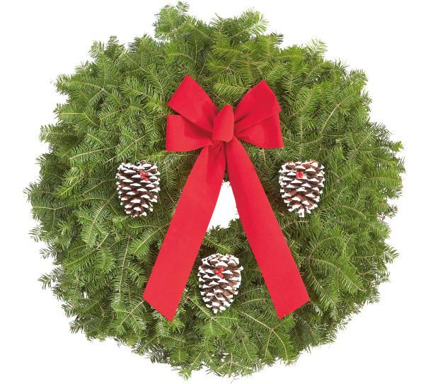 Wreath clipart evergreen garland Industries: Decorated Wreath Wreath Fundraisers