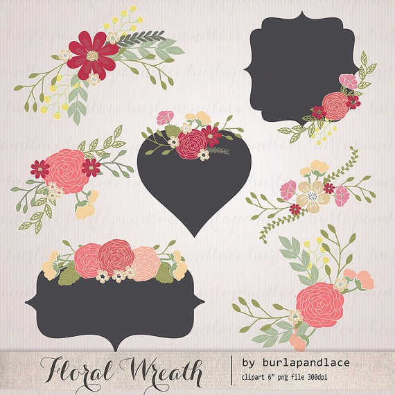 Wreath clipart flower illustration Hand Hand Flower Wedding flower