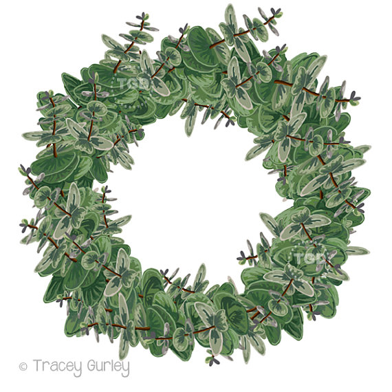 Wreath clipart graphic Wreath Graphic Art Eucalyptus Green
