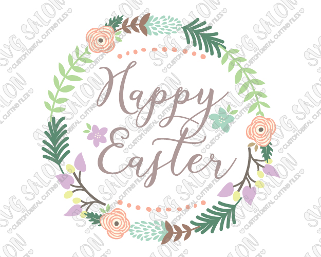 Wreath clipart happy easter Wreath and  Easter Wreath