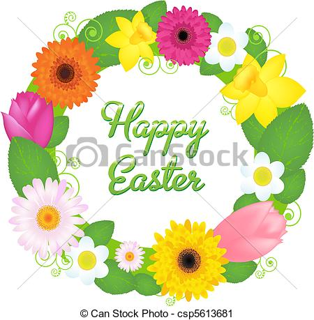 Wreath clipart happy easter Wreath Easter csp5613681 From Various